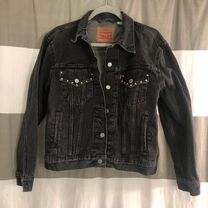 Levi's Gray Riveted Denim Jacket
